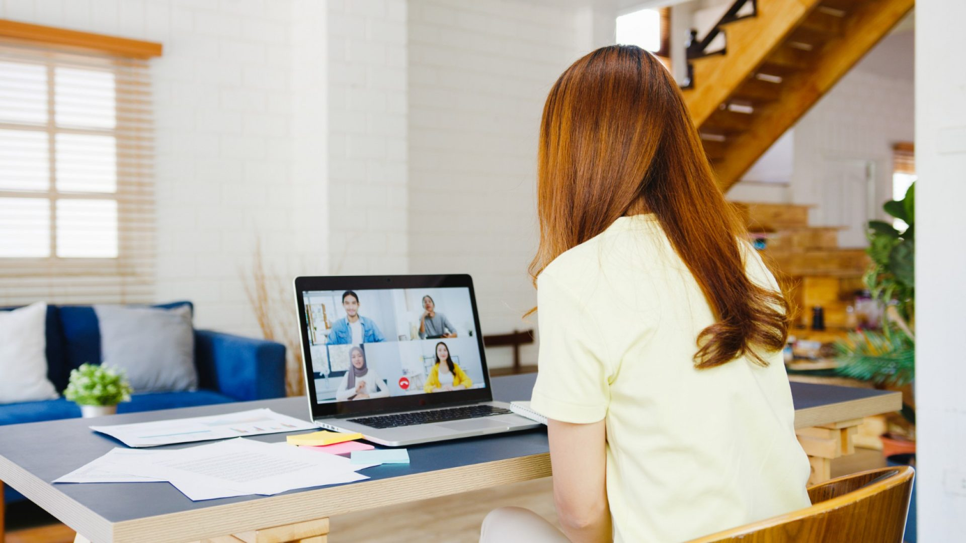 woman-working-from-home-video-call